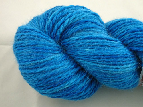 Bright Blue Merino/Angora 80/20 Light 10ply