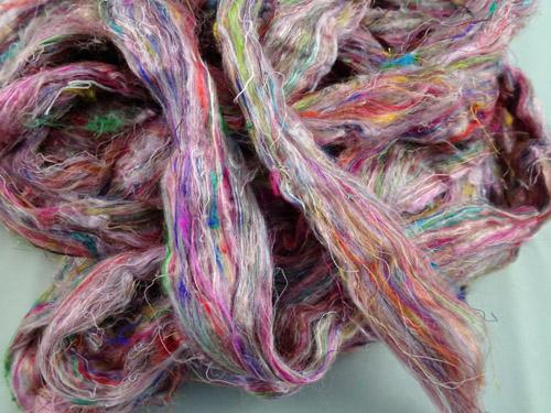 Sari Silk Roving - Candy Floss