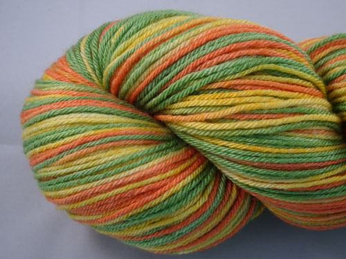Citrus (L) Superwash Merino/Bamboo/Silk Sock Yarn