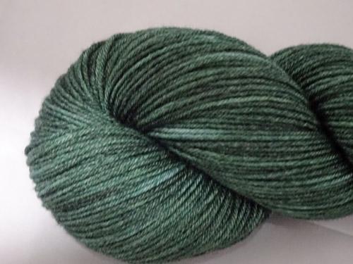 Dark Green Superwash Merino/Bamboo/Silk Sock Yarn