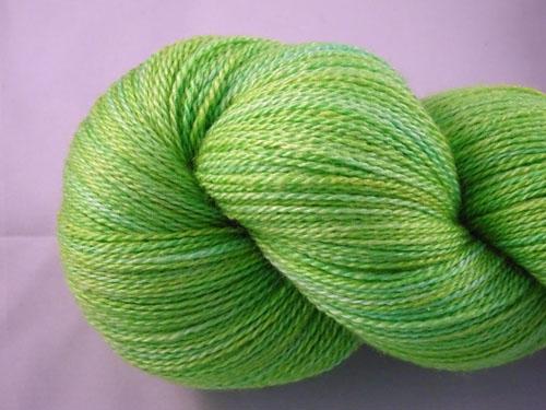 Lush Lime Merino/Silk Laceweight Yarn