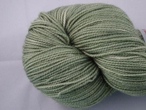 Misty Green SW Merino/Nylon/Stellina Sock Yarn