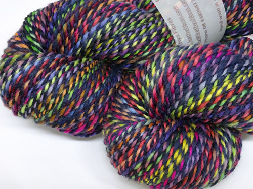 Navy Stained Glass Handspun Yarn