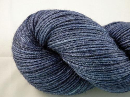 Navy Denim Superwash Merino/Bamboo/Silk Sock Yarn