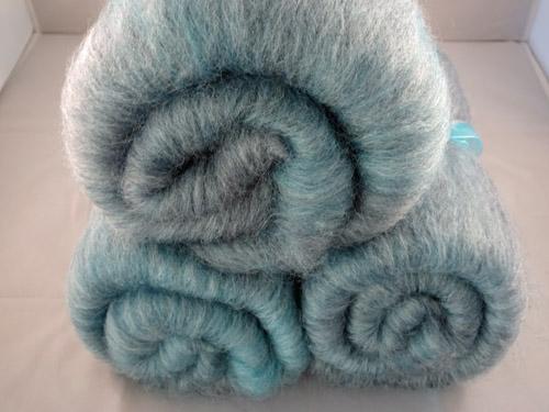 Pale Teal Superwash Wool and Bamboo Batts