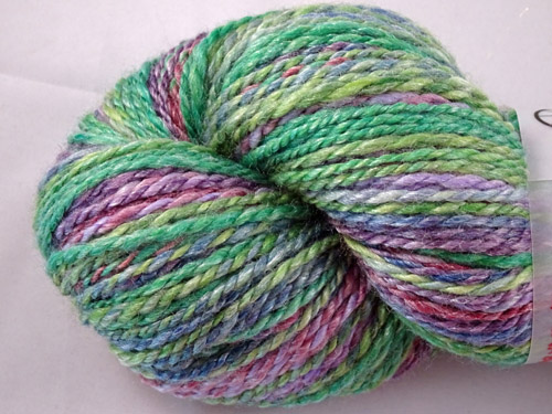 Purple and Greens Handspun Yarn
