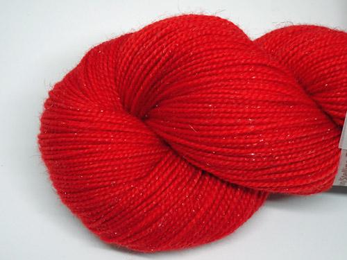 Racy Red SW Merino/Nylon/Stellina Sock Yarn