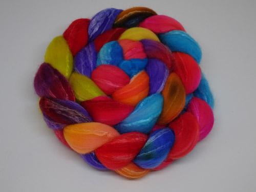 Rainbow Rose Merino/Silk tops