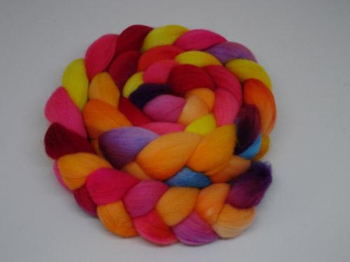 Rainbow Rose-less teal Wirreanda Polwarth Tops