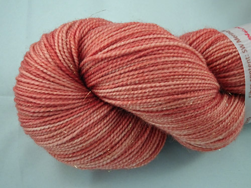 Soft Sparkling Ochre SW Merino/Nylon/Stellina Sock Yarn