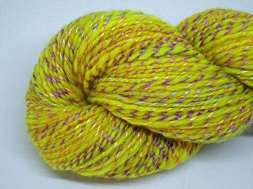 Sunny Day Handspun Wool/Rose Fibre Yarn
