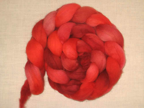 Rosy Red roving
