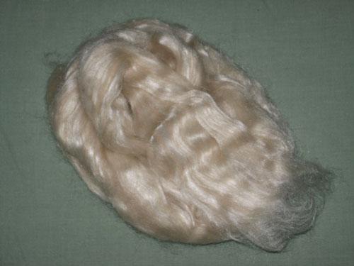 White Baby Camel/Tussah Silk Tops