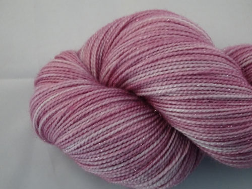 Lavender Twinkle SW Merino Sock Yarn/Nylon/Stellina