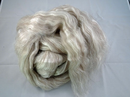 Grey Alpaca/Tussah Silk Tops-