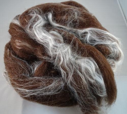 Brown Merino/Silk Tops-