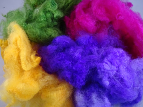 Brights-Pink, Purple, Green & Yellow Dyed Fleece-