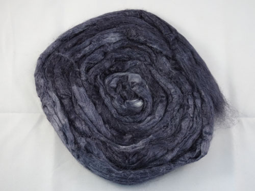 Charcoal Tussah Silk-