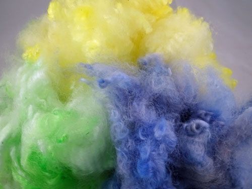 Pastel - Yellow, Blue and Green Dyed Fleece-