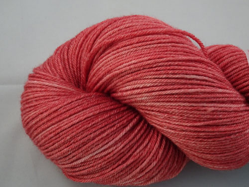 Faded Red Denim Superwash Merino/Bamboo/Silk Sock Yarn-