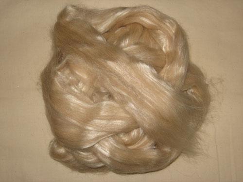 Fawn Alpaca/Bleached Tussah Silk Tops-