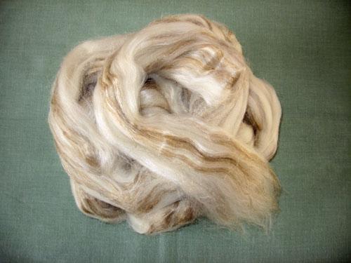 Merino/Tussah Silk/Flax Tops-