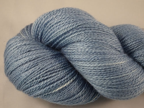 Light Blue Merino/Silk Laceweight Yarn-