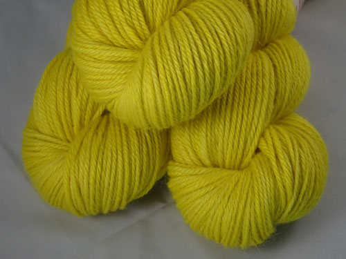 Neon Yellow 8ply Alpaca Yarn-