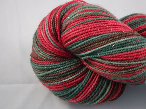 Red Flowering Gum (L) SW Merino Sock Yarn/Nylon/Stellina-