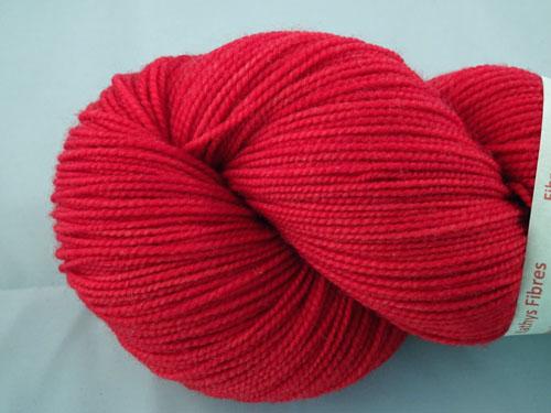 Red SW Merino Sock Yarn-