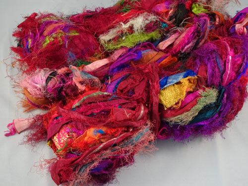 Red Sari Silk Ribbon-