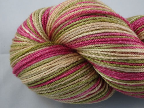 Rose Gardens (L) Superwash Merino/Bamboo/Silk Sock Yarn-