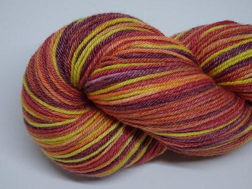 Autumn Leaves Superwash Merino/Bamboo/Silk Sock Yarn-