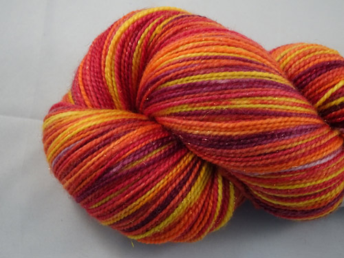 Autumn Leaves SW Merino/Nylon/Stellina Sock Yarn-