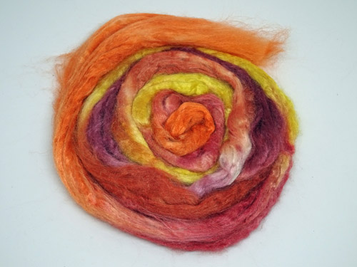 Autumn Leaves Tussah Silk-