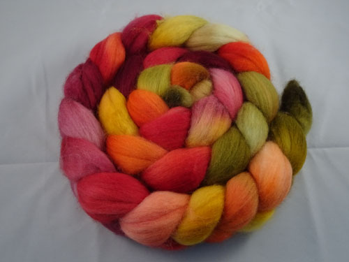 Autumn Blend merino roving-