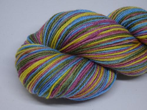 Beachside Blooms Superwash Merino/Bamboo/Silk Sock Yarn-