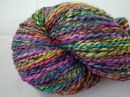 Black Rainbow Handspun Yarn-
