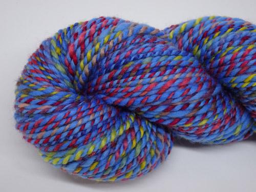 Blue Rainbow Handspun Yarn-