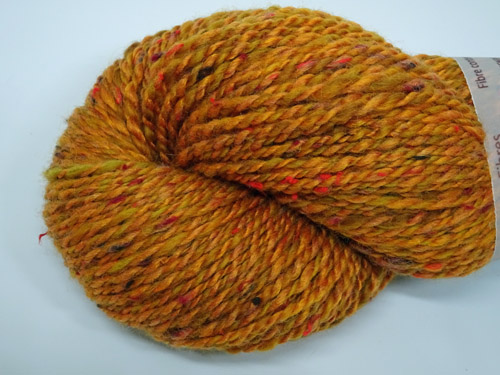 Burnt Orange Handspun Yarn-