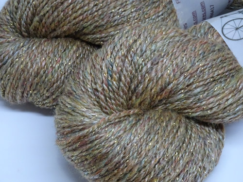 Cinnamon Bling Handspun Yarn-