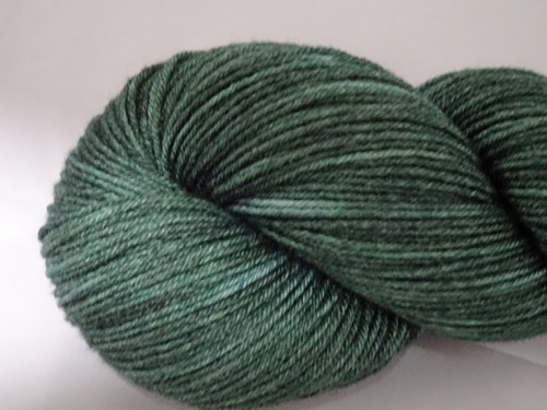 Dark Green Superwash Merino/Bamboo/Silk Sock Yarn-