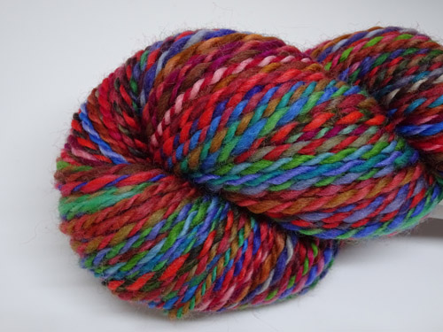 Dark Stained Glass Handspun Yarn-