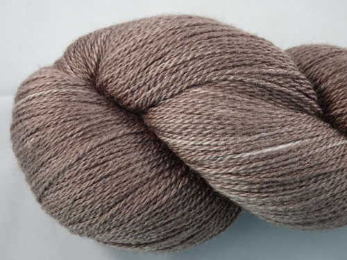 Dark Taupe Merino/Silk Laceweight Yarn-
