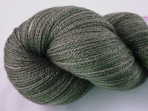 Dark Shady Green Merino/Silk Laceweight Yarn-