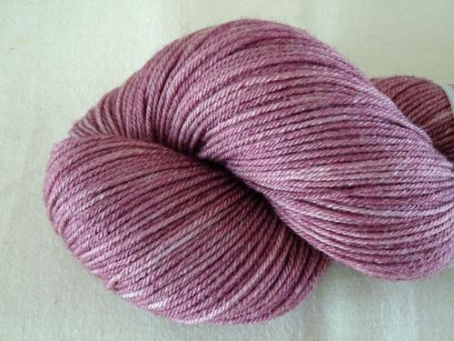 Dusky Lilac Superwash Merino/Bamboo/Silk Sock Yarn-