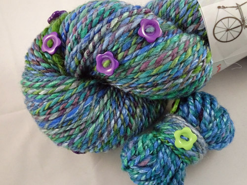 Floral Aquarius Handspun Yarn-
