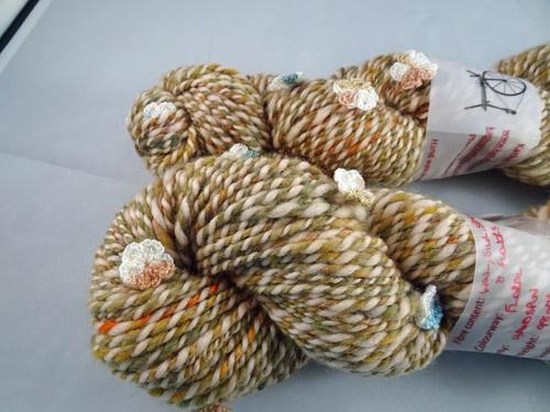 Floral Handspun Yarn-