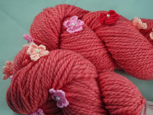Floral Pink Handspun Yarn-