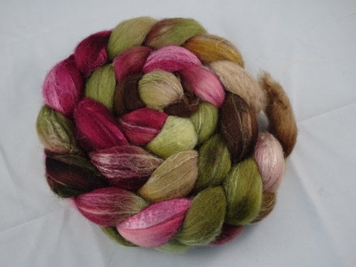 Forest Bloom Merino/Silk tops-